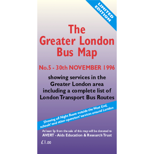 The Greater London Bus Map 5 - Printed Version