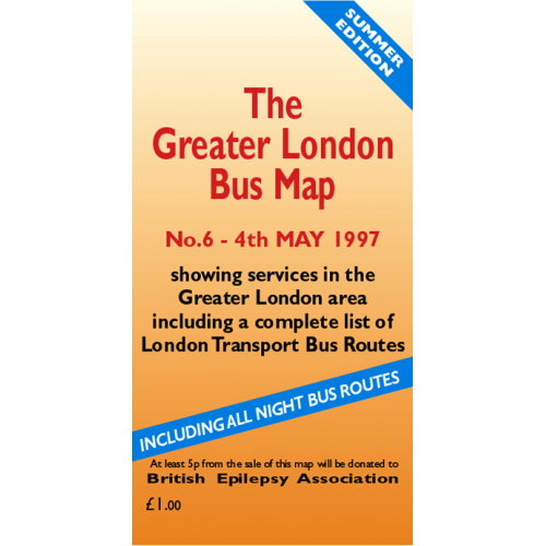 The Greater London Bus Map 6 - Printed Version