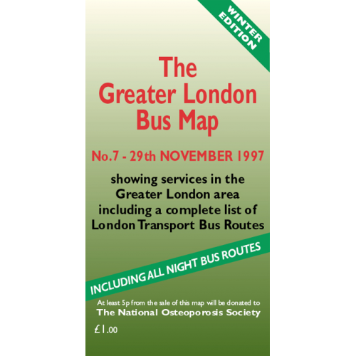 The Greater London Bus Map 7 - Printed Version