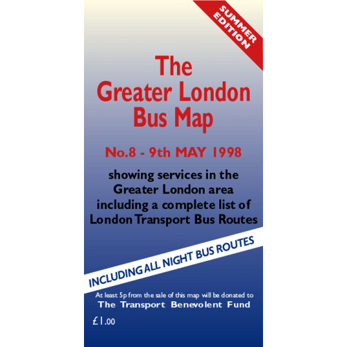 The Greater London Bus Map 8 - Printed Version
