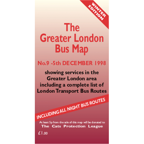 The Greater London Bus Map 9 - Printed Version