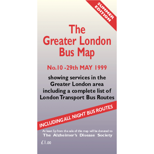 The Greater London Bus Map 10 - Printed Version