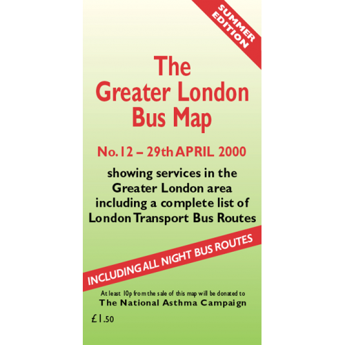 The Greater London Bus Map 12 - Printed Version