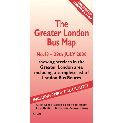 The Greater London Bus Map 13 - Printed Version