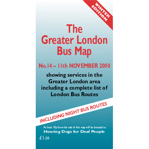 The Greater London Bus Map 14 - Printed Version