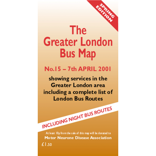 The Greater London Bus Map 15 - Printed Version