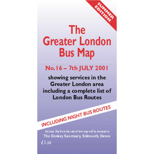 The Greater London Bus Map 16 - Printed Version