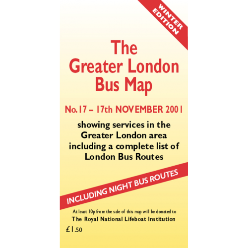 The Greater London Bus Map 17 - Printed Version