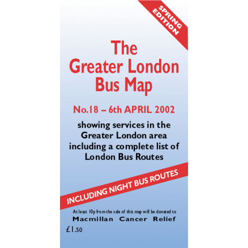 The Greater London Bus Map 18 - Printed Version