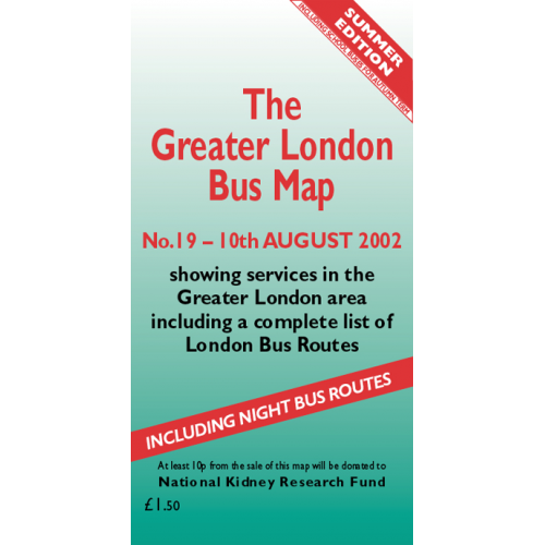 The Greater London Bus Map 19 - Printed Version