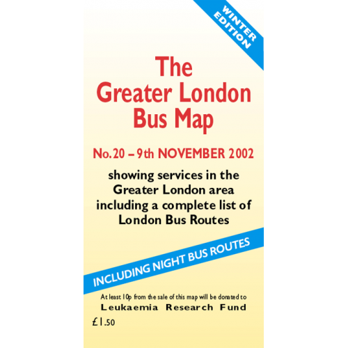 The Greater London Bus Map 20 - Printed Version