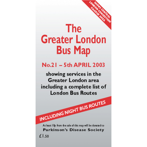The Greater London Bus Map 21 - Printed Version