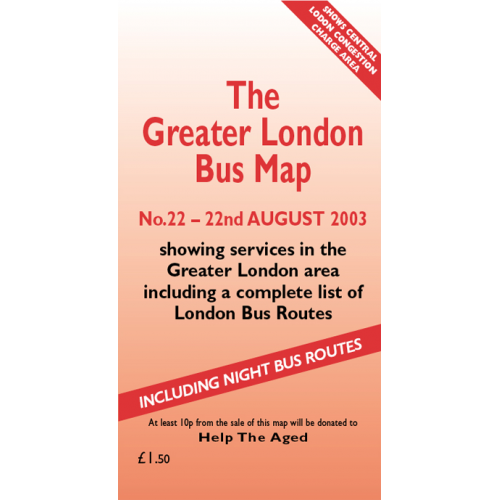 The Greater London Bus Map 22 - Printed Version