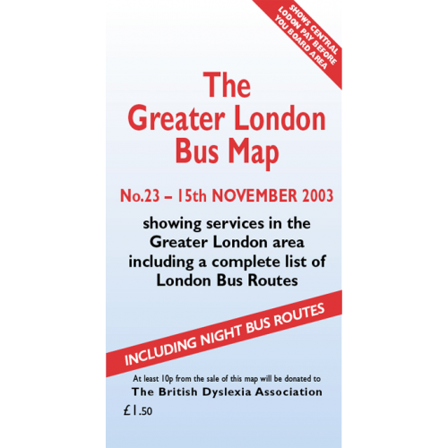 The Greater London Bus Map 23 - Printed Version