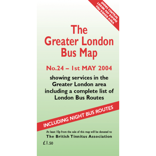 The Greater London Bus Map 24 - Printed Version