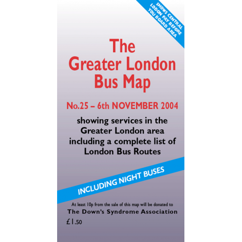 The Greater London Bus Map 25 - Printed Version