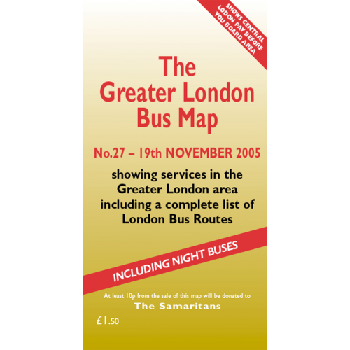 The Greater London Bus Map 27 - Printed Version