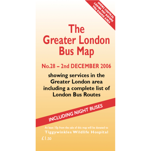 The Greater London Bus Map 28 - Printed Version