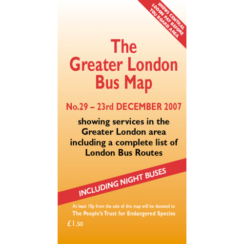 The Greater London Bus Map 29 - Printed Version