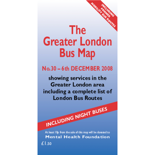 The Greater London Bus Map 30 - Printed Version