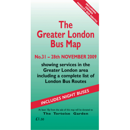 The Greater London Bus Map 31 - Printed Version