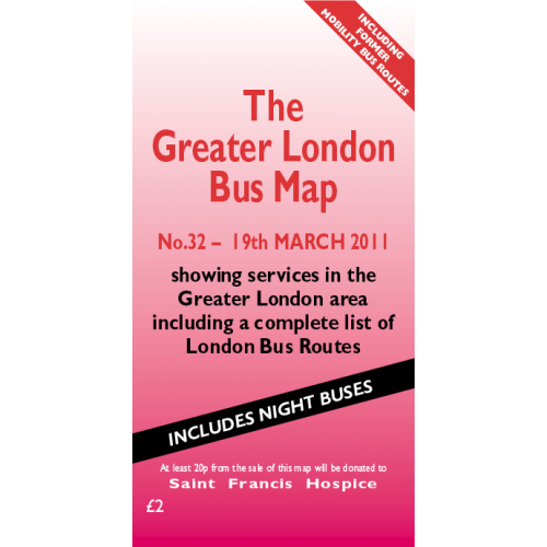 The Greater London Bus Map 32 - Printed Version