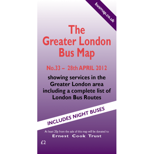 The Greater London Bus Map 33 - Printed Version