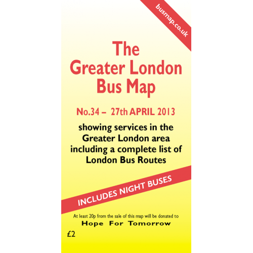 The Greater London Bus Map 34 - Printed Version