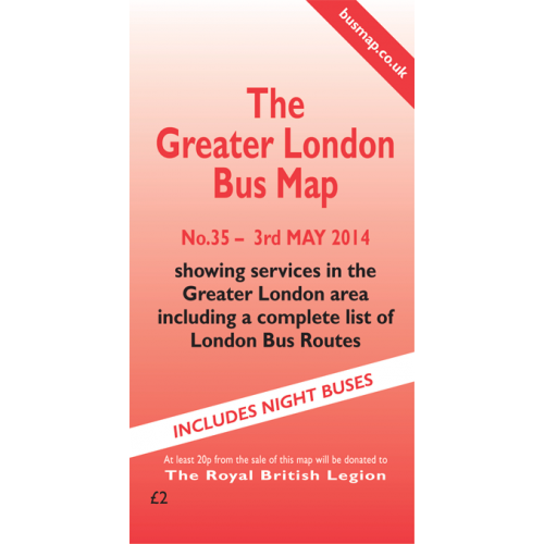 The Greater London Bus Map 35 - Printed Version