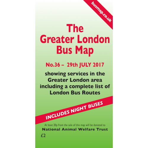 The Greater London Bus Map 36 - Printed Version