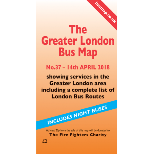 The Greater London Bus Map 37 - Printed Version