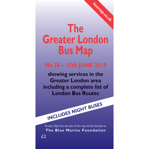 The Greater London Bus Map 38 - Printed Version