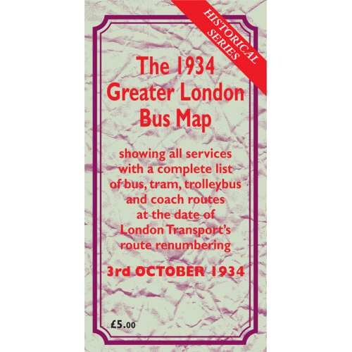 The October 1934 Greater London Bus Map - Printed Version