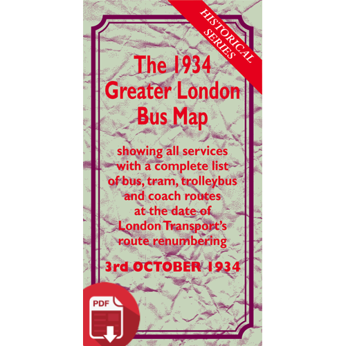 The October 1934 Greater London Bus Map - Digital Download Version