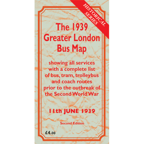 The 1939 Greater London Bus Map SECOND EDITION - Printed Version