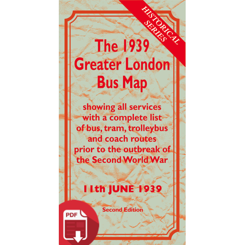 The 1939 Greater London Bus Map SECOND EDITION - Digital Download Version