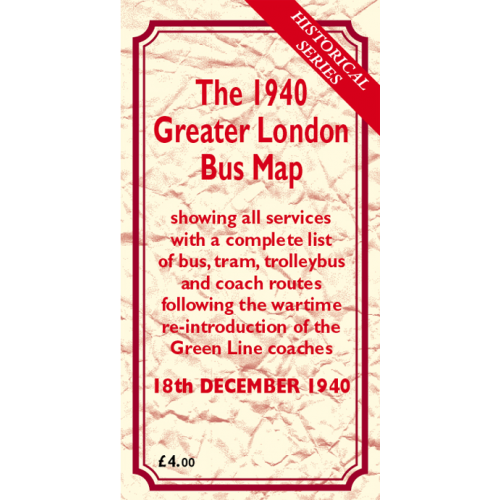 The 1940 Greater London Bus Map - Printed Version