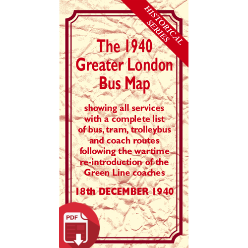 The 1940 Greater London Bus Map - Digital Download Version