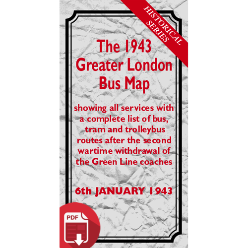 The 1943 Greater London Bus Map - Digital Download Version