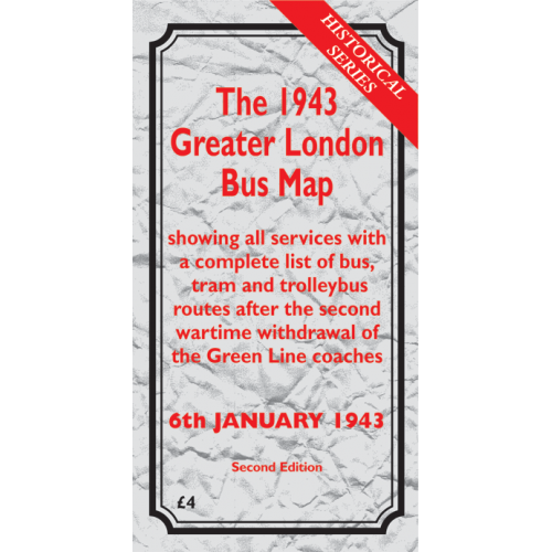 The 1943 Greater London Bus Map SECOND EDITION - Printed Version
