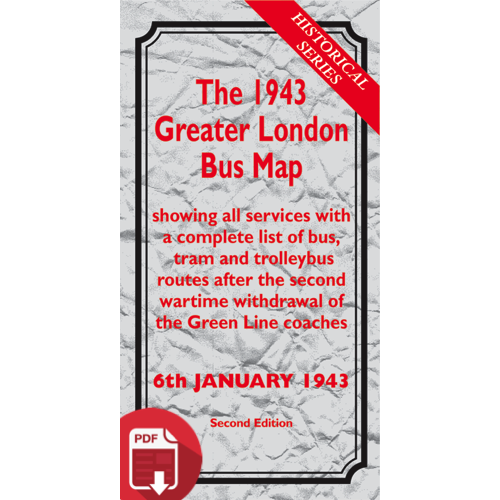 The 1943 Greater London Bus Map SECOND EDITION - Digital Download Version