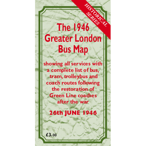 The 1946 Greater London Bus Map - Printed Version