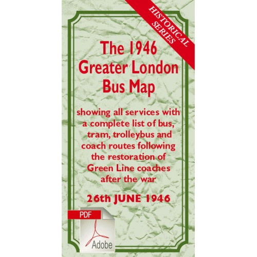 The 1946 Greater London Bus Map - Digital Download Version