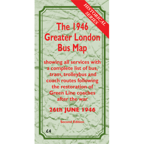 The 1946 Greater London Bus Map SECOND EDITION - Printed Version