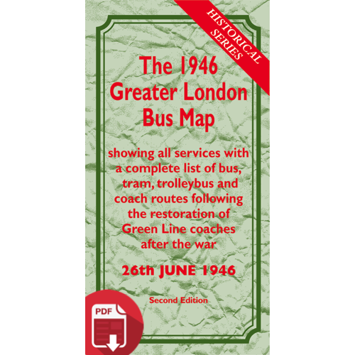 The 1946 Greater London Bus Map SECOND EDITION - Digital Download Version