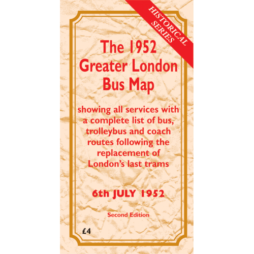 The 1952 Greater London Bus Map SECOND EDITION - Printed Version