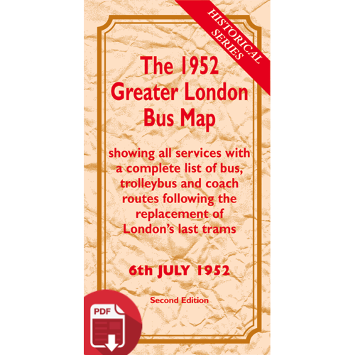 The 1952 Greater London Bus Map SECOND EDITION - Digital Download Version