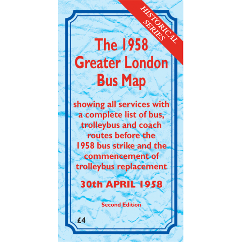 The 1958 Greater London Bus Map SECOND EDITION - Printed Version