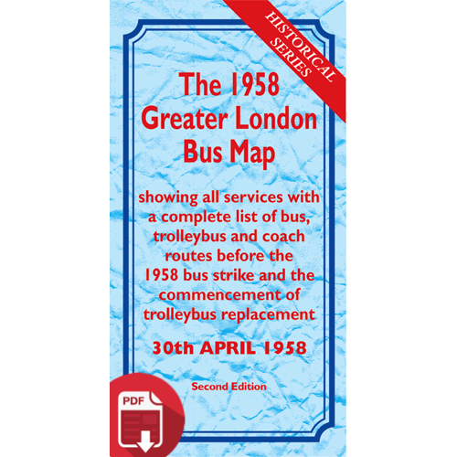 The 1958 Greater London Bus Map SECOND EDITION - Digital Download Version