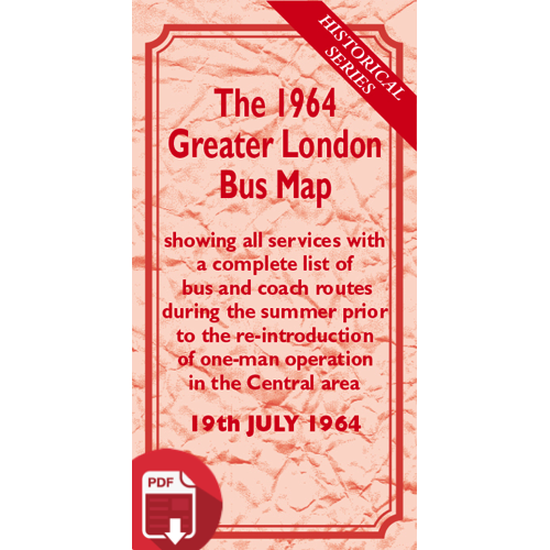The 1964 Greater London Bus Map - Digital Download Version